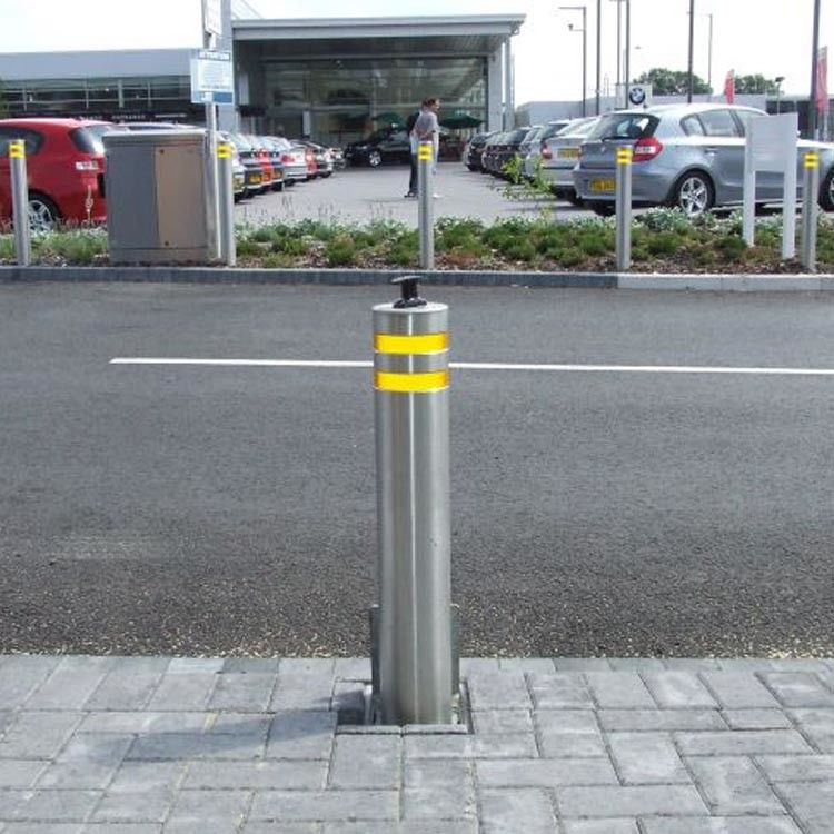 IP68 Hydraulic Road Blocker Automatic Security Electric Trafict Lifing Bollards